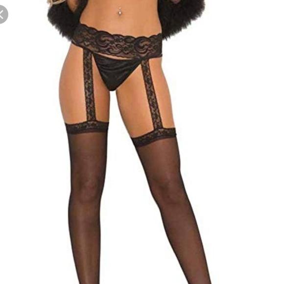 0e2084f95 3 PR Fantasy lace top garter belt stockings